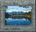 Lake Matheson stamp c1983