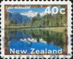 Lake Matheson stamp c1996