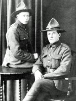 Brother Leslie (left) and Angus (right) Matheson, in London in early 1919