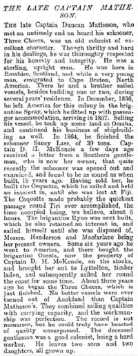 New Zealand Herald 30 March 1882